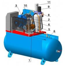 Винтовой компрессор с ременным приводом ВК30-8(10/15)