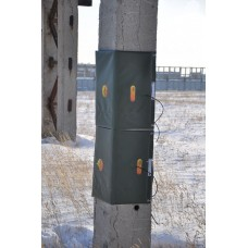 Прогрев колонны цельными термоматами